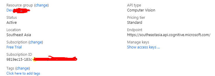 Microsoft Vision Scope not working even after adding correct Service