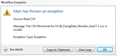 Unable to read CSV - Invalid format - RPA Dev Rookies