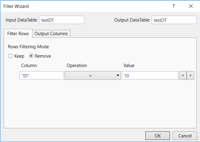 How to use filter data table activity after a read range
