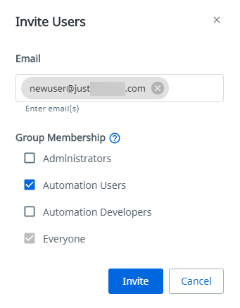 add groups at invitiation