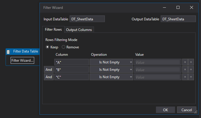 Filter Datatable