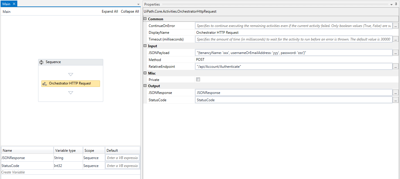 OrchestratorHttpRequest results in System ServiceModel