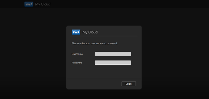 Unable to login to My Cloud Dashboard - My Cloud - WD