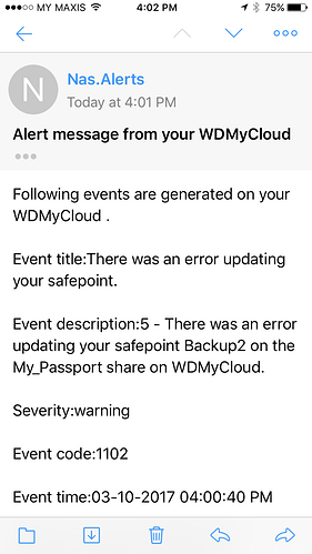 Smart test bad request (400157) wd my cloud - My Cloud - WD