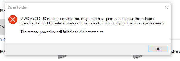 Windows 10 can't access replacement WDMyCloud - My Cloud
